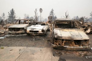 Sonoma Fire Aftermath Burnt Cars
